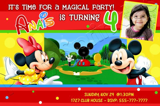 Cool Mickey Mouse Clubhouse Birthday Invitations Ideas  Free