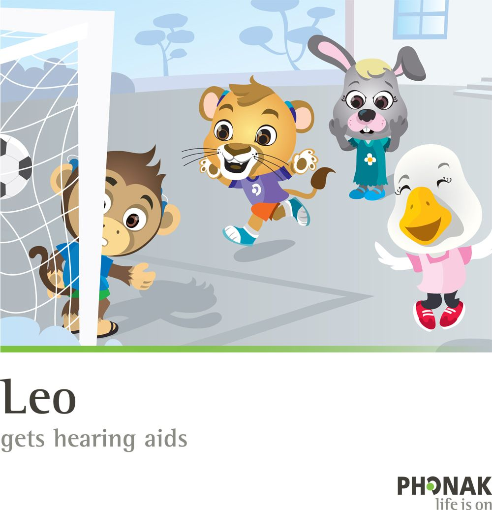 Meet Leo. He's a playful young Lion cub who just wants to be like his other friends. He wants to do well in school, excel at sports, and have lots of fun. But in the past he had trouble due to his hearing loss. FREE reading book APP from Phonak