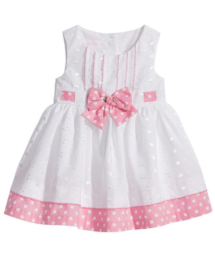 dbc0380391bf8 Bonnie Baby Eyelet & Dot-Print Dress, Baby Girls | baby's frock ...
