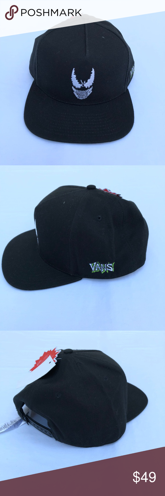 Vans of the Wall Marvel Comic Venom Hat never used in excellent conditions  Vans Accessories Hats 0801ff86138