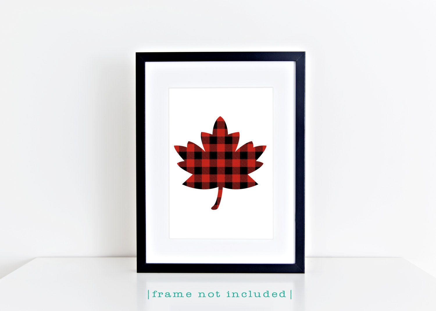 buffalo plaid maple leaf print red black plaid lumberjack maple