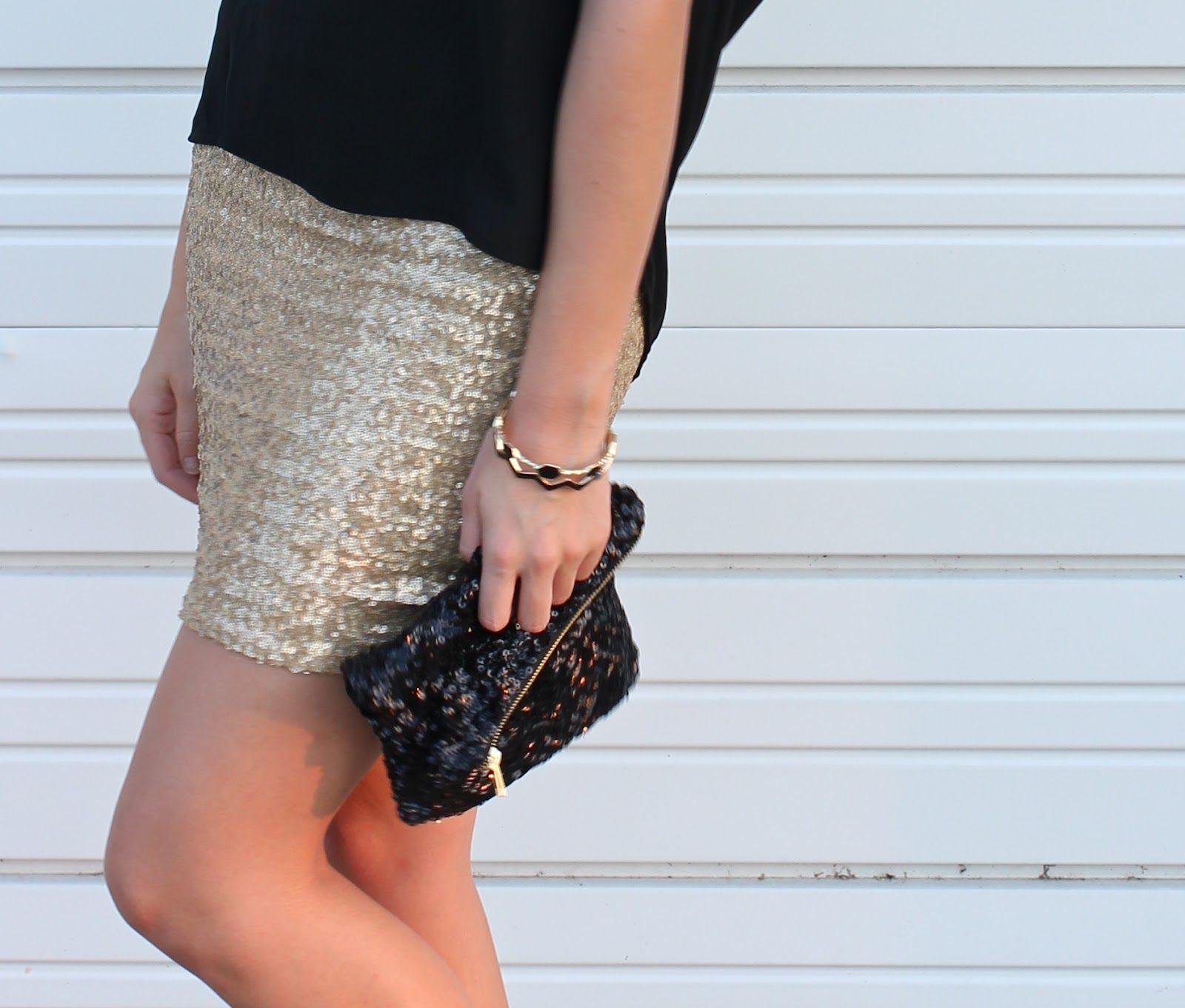 Sequin Mini Skirt: a tutorial.