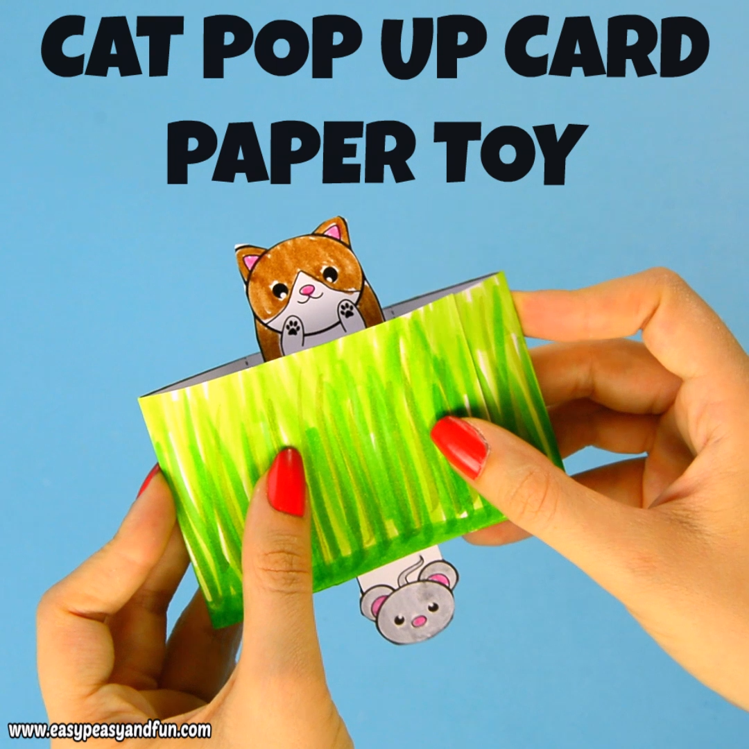 We are a bunch of cat lovers here so we are extremely (extremely, extremely) excited to present this adorable cat pop up box paper toy!