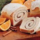 Orange Cinnamon Swirl Bread with Orange Glaze