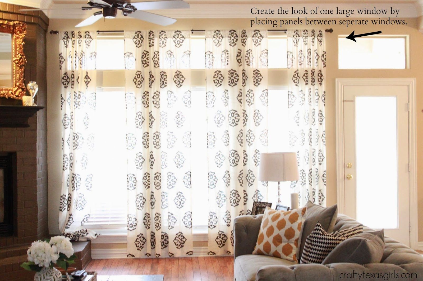 How to Hang Curtains make your windows look larger