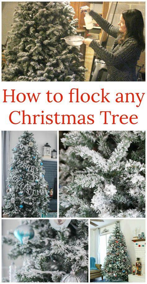 DIY Flocked Christmas Tree Рождественские поделки