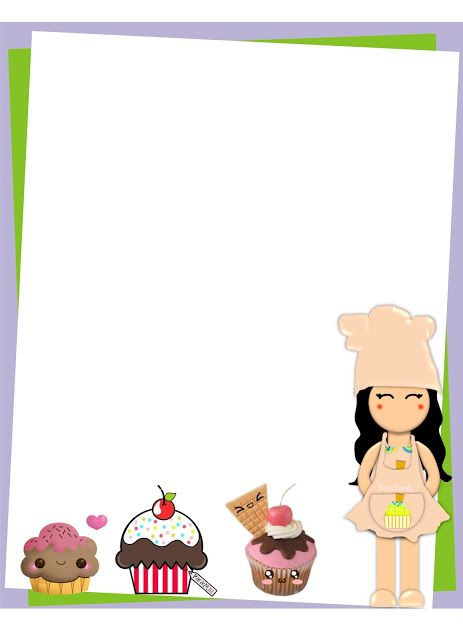 Borders For Kid Graphic Design Cooking Or Cooking Decorative