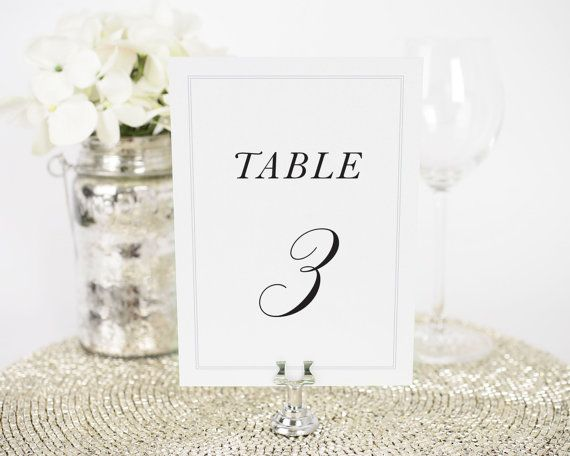 Wedding table numbers printed on ultra thick 137lb/350gsm white