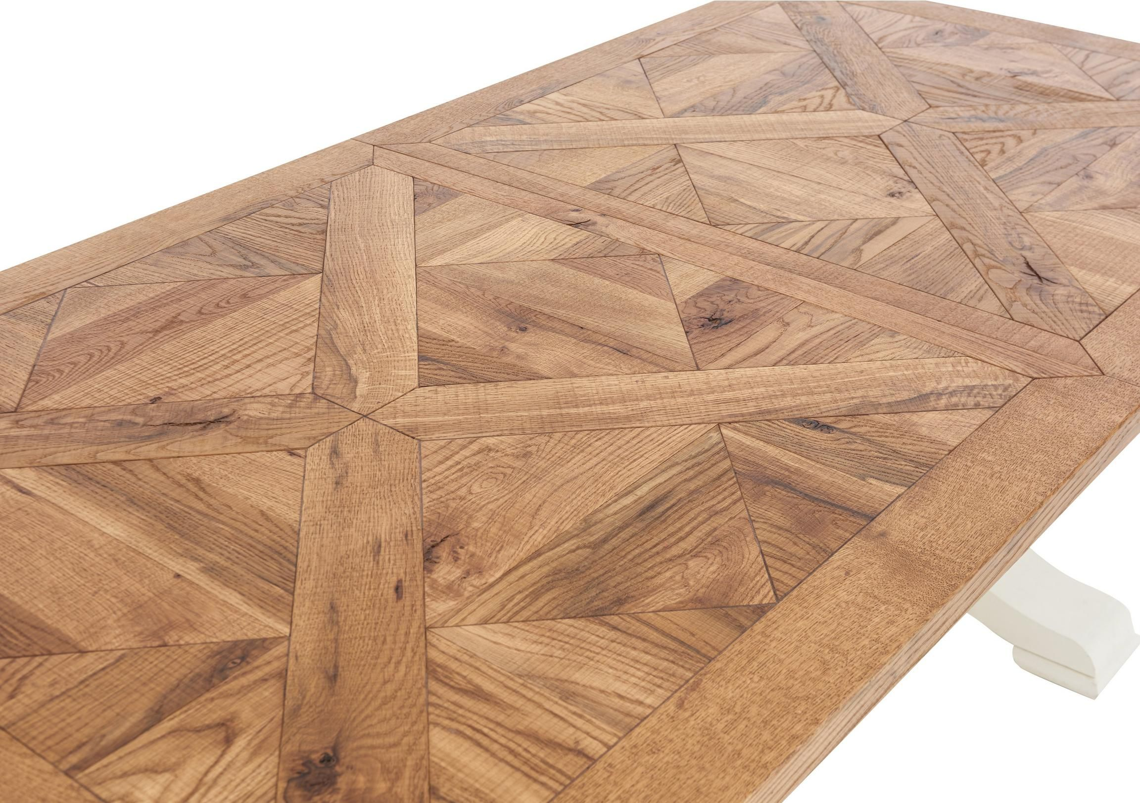 Pattern Extending Parquet Dining Table Dining Table Farmhouse Table Base Timber Dining Table