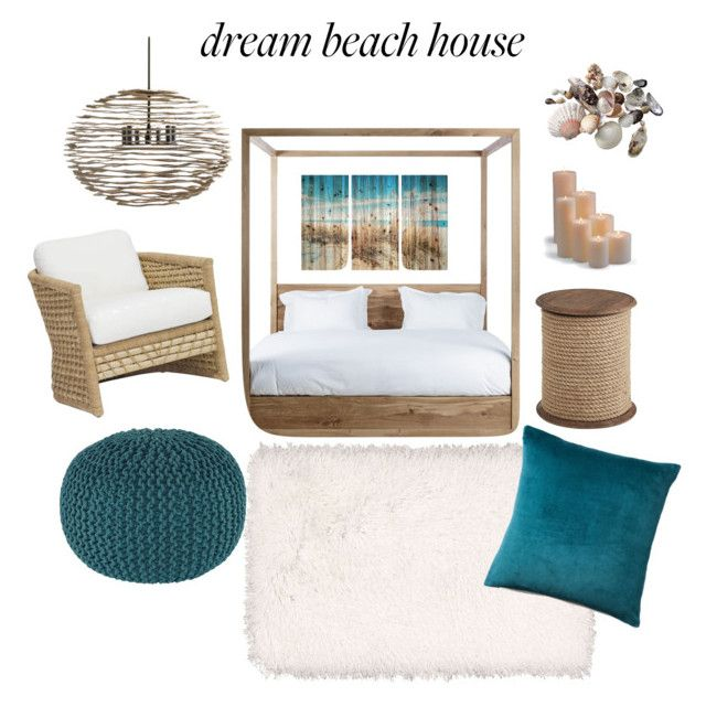 """""""Beach guest bedroom"""" by amd2008 on Polyvore featuring interior, interiors, interior design, home, home decor, interior decorating, Frontgate, Pier 1 Imports, Kathy Ireland and Arteriors"""