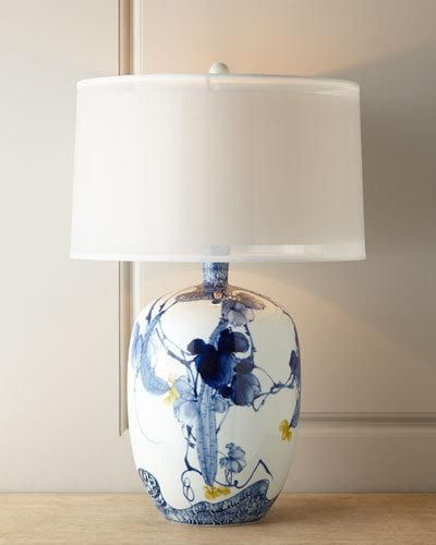 Fl Chinoiserie Lamp