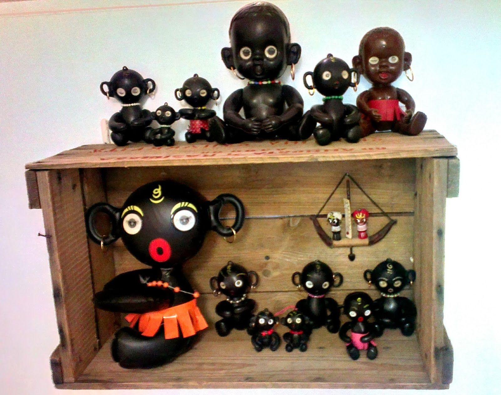 Yhden romu on toisen aarre: Winky Dakkochan blinking eye dolls 60's