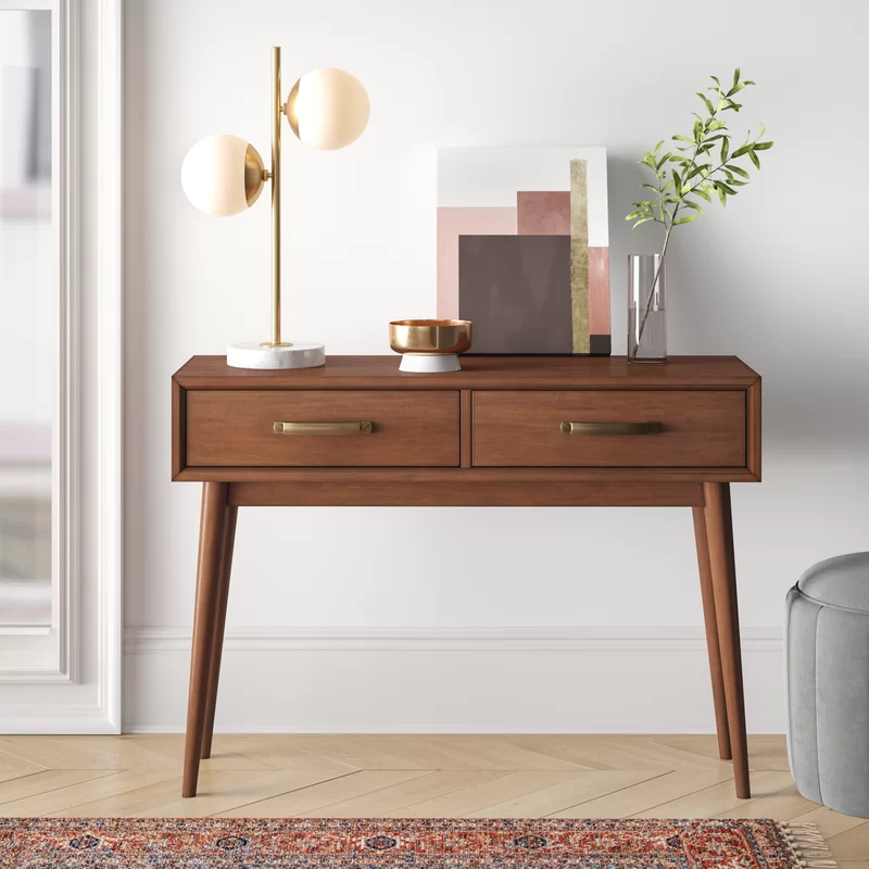 Foundstone Morris Mid Century Modern 40 63 Console Table Reviews Wayfair Contemporary Console Table Contemporary Console Modern Console Tables