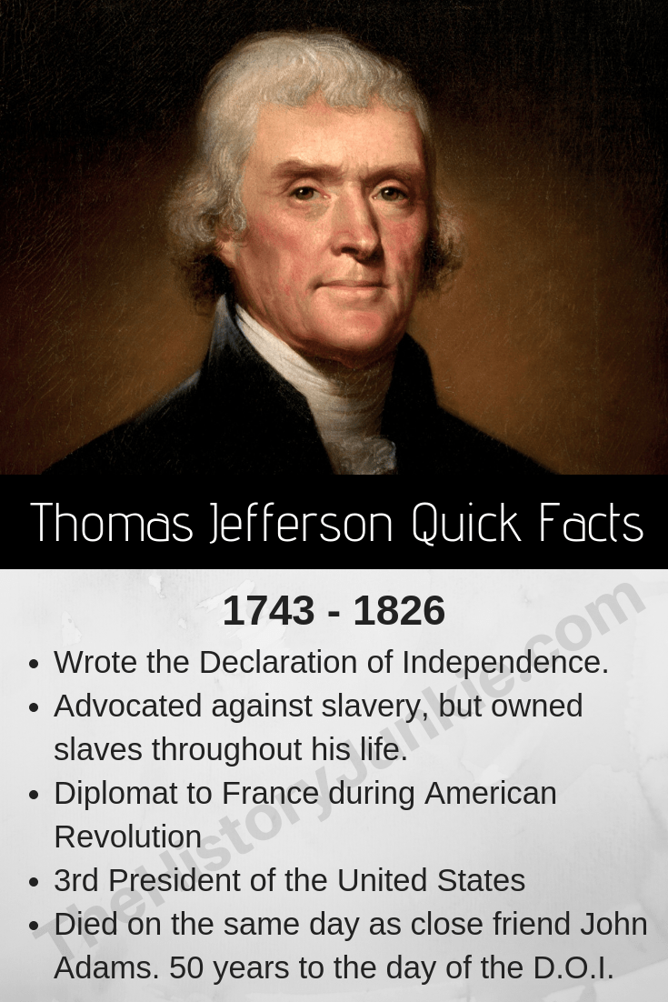 Thomas Jefferson Facts Biography Presidency The History Junkie Thomas Jefferson Facts American History Facts Thomas Jefferson