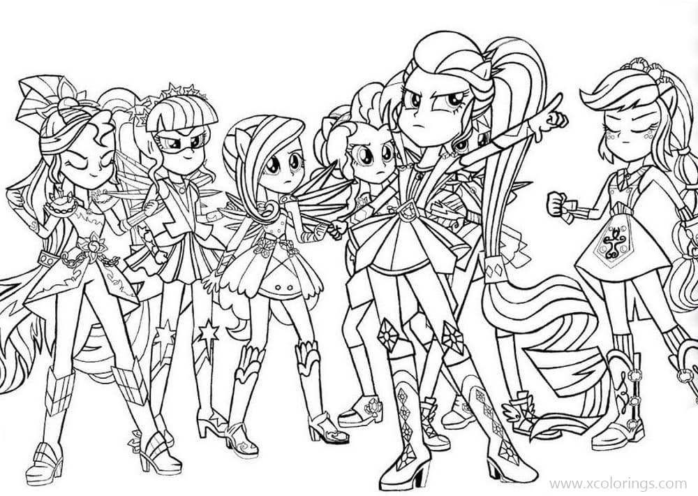 MLP Equestria Girls Friendship Game Coloring Pages. My Little Pony  Coloring, My Little Pony Movie, Twilight Sparkle Equestria Girl