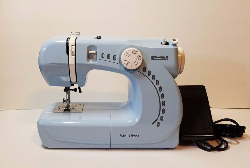 Kenmore Mini Ultra Sewing Machine Portable Blue Model 4040 Awesome Blue Kenmore Sewing Machine