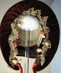 Front view of 1840s bonnet, Snowshill Collection