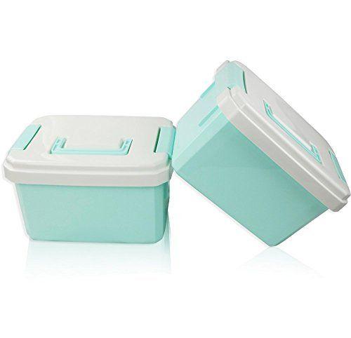 Ggbin Plastic Storage Box With Handle Blind Portable 11 Quarts