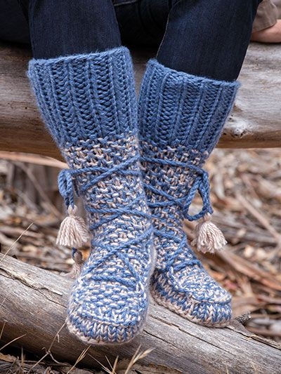 Knit Annies Signature Designs Mukluk Knit Booties Knit Pattern