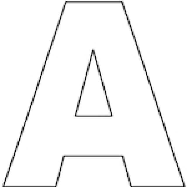 Capital letter a outline