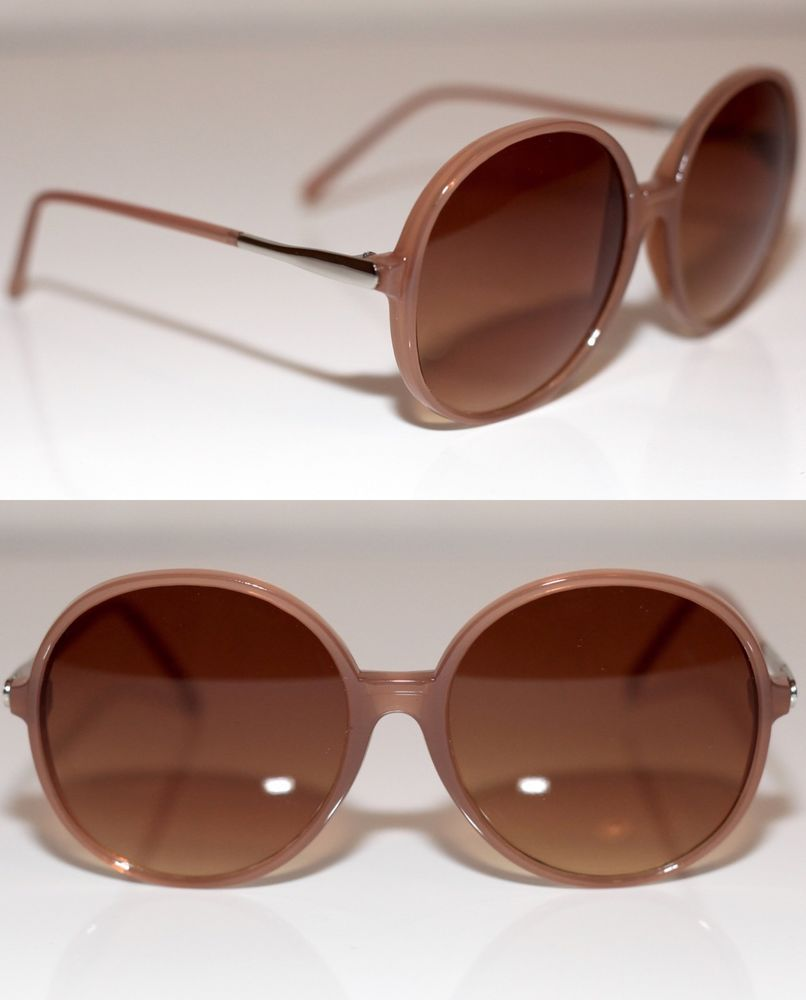 f8a344d488b New Retro Look Womens Sunglasses Honey Round Oversized Silver Skinny ...