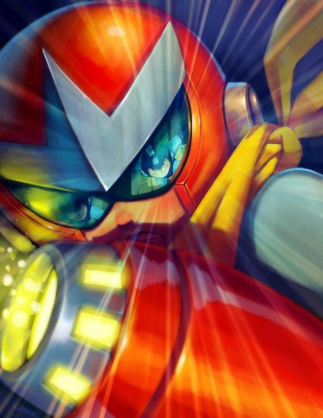 Proto man looks really good in this art style megaman for Megaman 9 portada