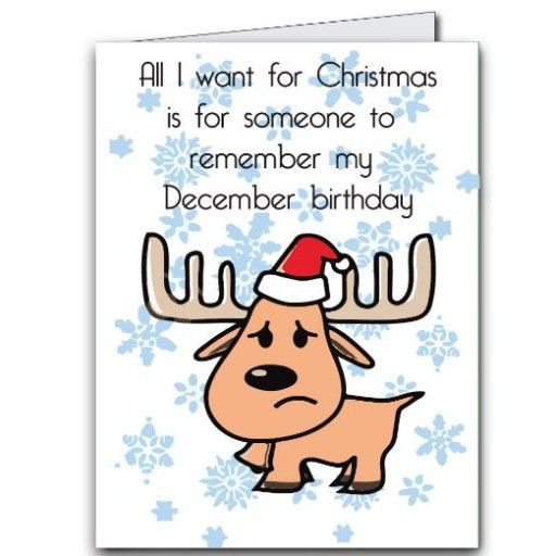 2x3 Giant Christmas Birthday Card Remember My December Birthday