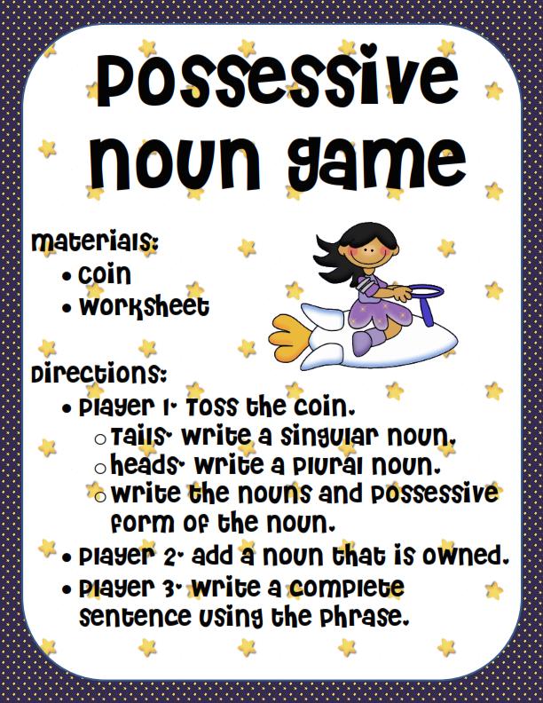 Ms. Third Grade: Possessive Nouns Game--modify for my grammar ...