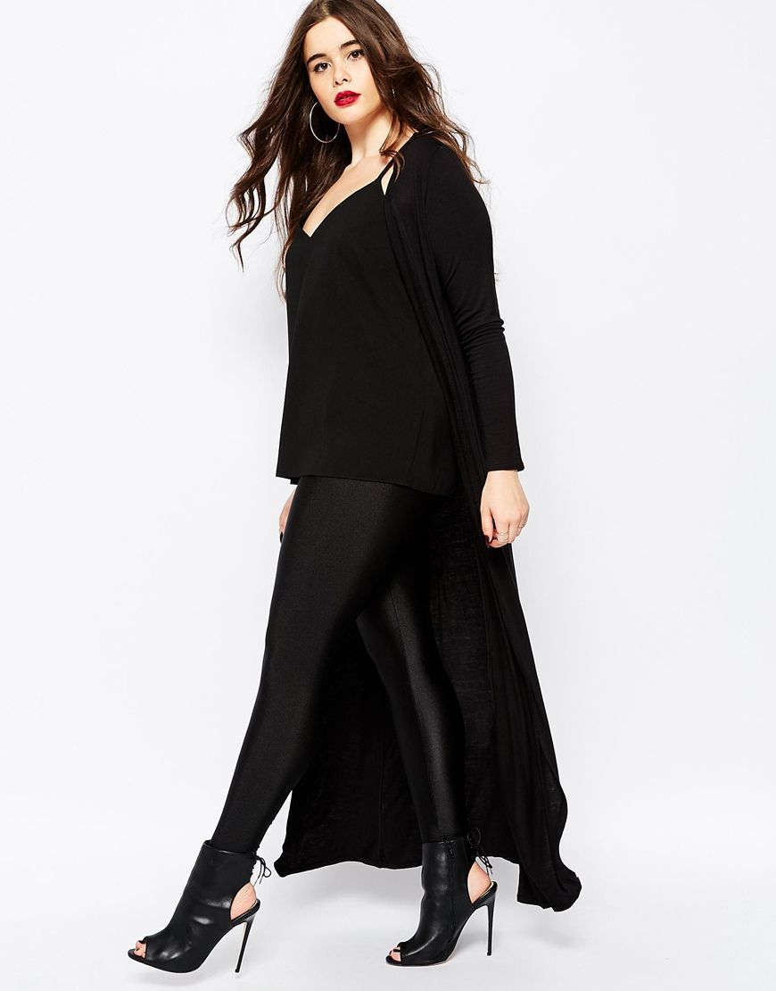 Image 4 of Boohoo Plus Maxi Jersey Cardigan | plus size clothing ...