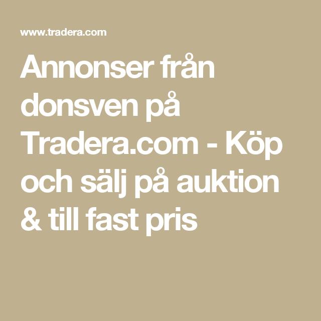 Annonser från donsven på Tradera.com - Köp och sälj på auktion & till fast pris