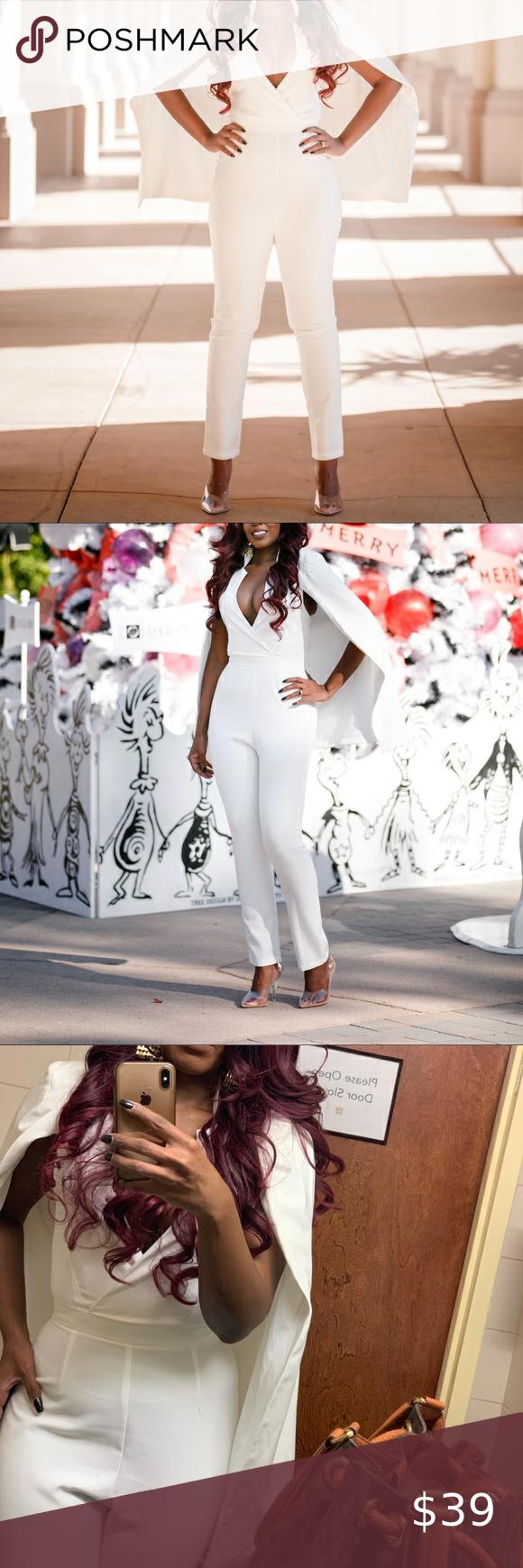 Photo of Ivory Fashion Nova Jumpsuit S One piece ivory jumpsuit from Fashion Nova with ca…