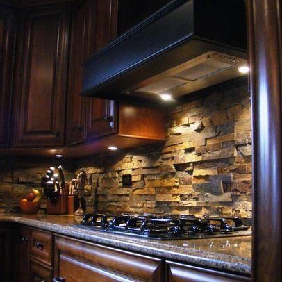 Rock Backsplash Ledger Stone From Roca Tile Stylish Kitchen