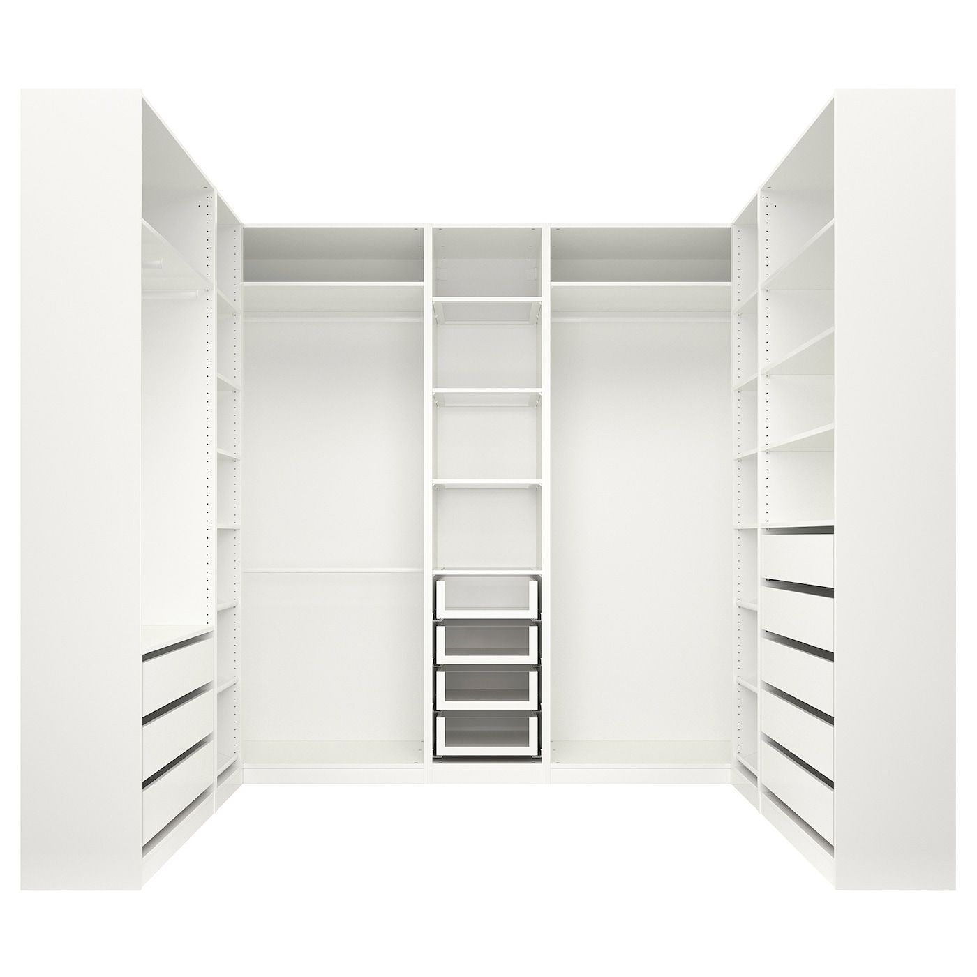 Pax Wardrobe White 276x211x236 Cm With The Pax Planner You Can Easily Complete Your Combination With Integ In 2020 Pax Corner Wardrobe Pax Wardrobe Corner Wardrobe