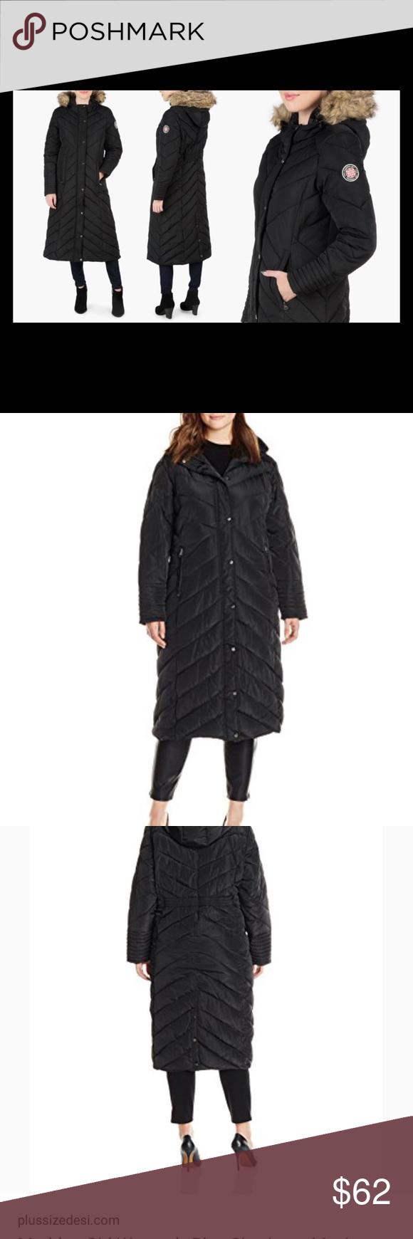 9676a1697db80 Madden Girl Plus-Size Long Maxi Puffer Coat