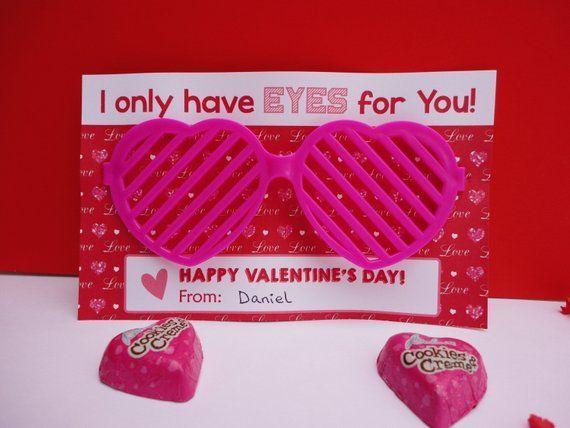 Sunglasses Valentine's Day Card/ Kids Valentines/ School Valentine/ Classroom Valentine/ Valentine'