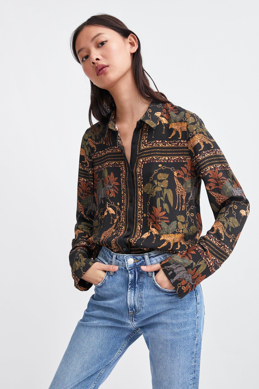 6960b7a43ed5f8 Printed shirt in 2019   SHOPPING   Printed shirts, Versace silk ...
