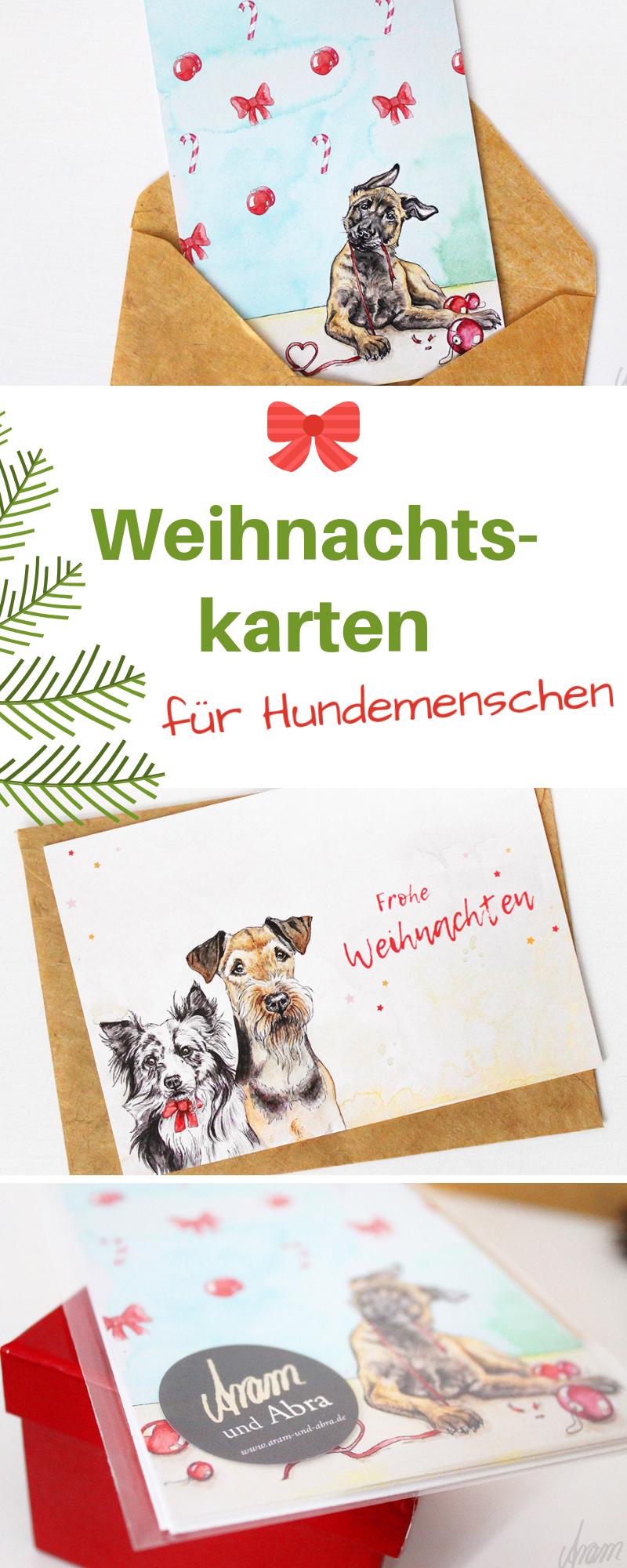 Hunde Weihnachtskarten Mehr Susse Hunde Grusskarten Zu