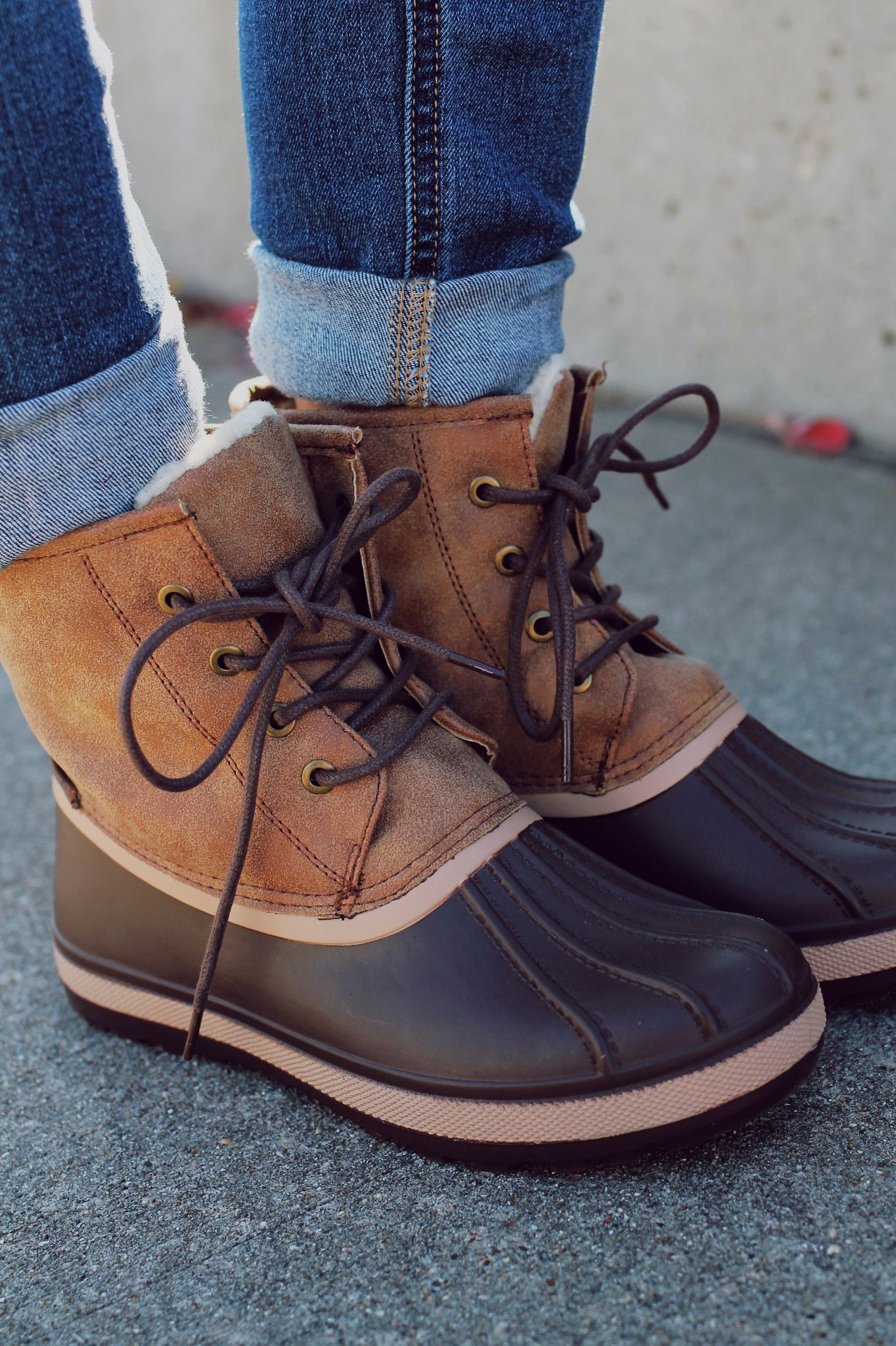 512435036e9 Brown Fur Lined Duck Boot Blizzard-05 – UOIOnline.com: Women's ...