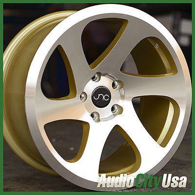 17x8 Jnc 032 Wheel Gold Machine Et35 5 114 3 Fit Accord Civic Cr V Tsx Rsx Altima Wheel Car Wheel