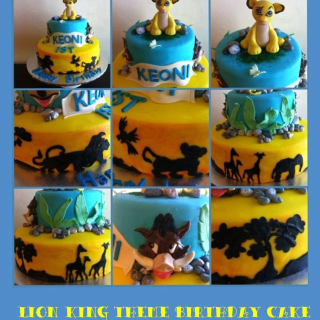 Lion King Themed Birthday Cake With Images Birthday Cake Kids