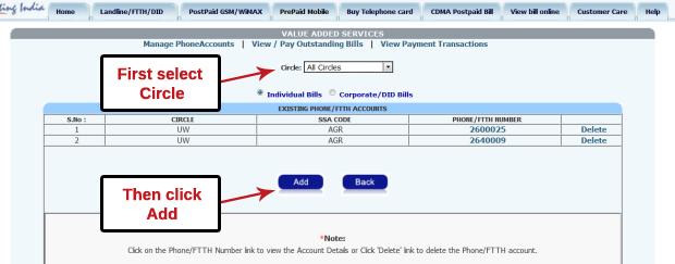 BSNL broadband and landline online bill payment explained