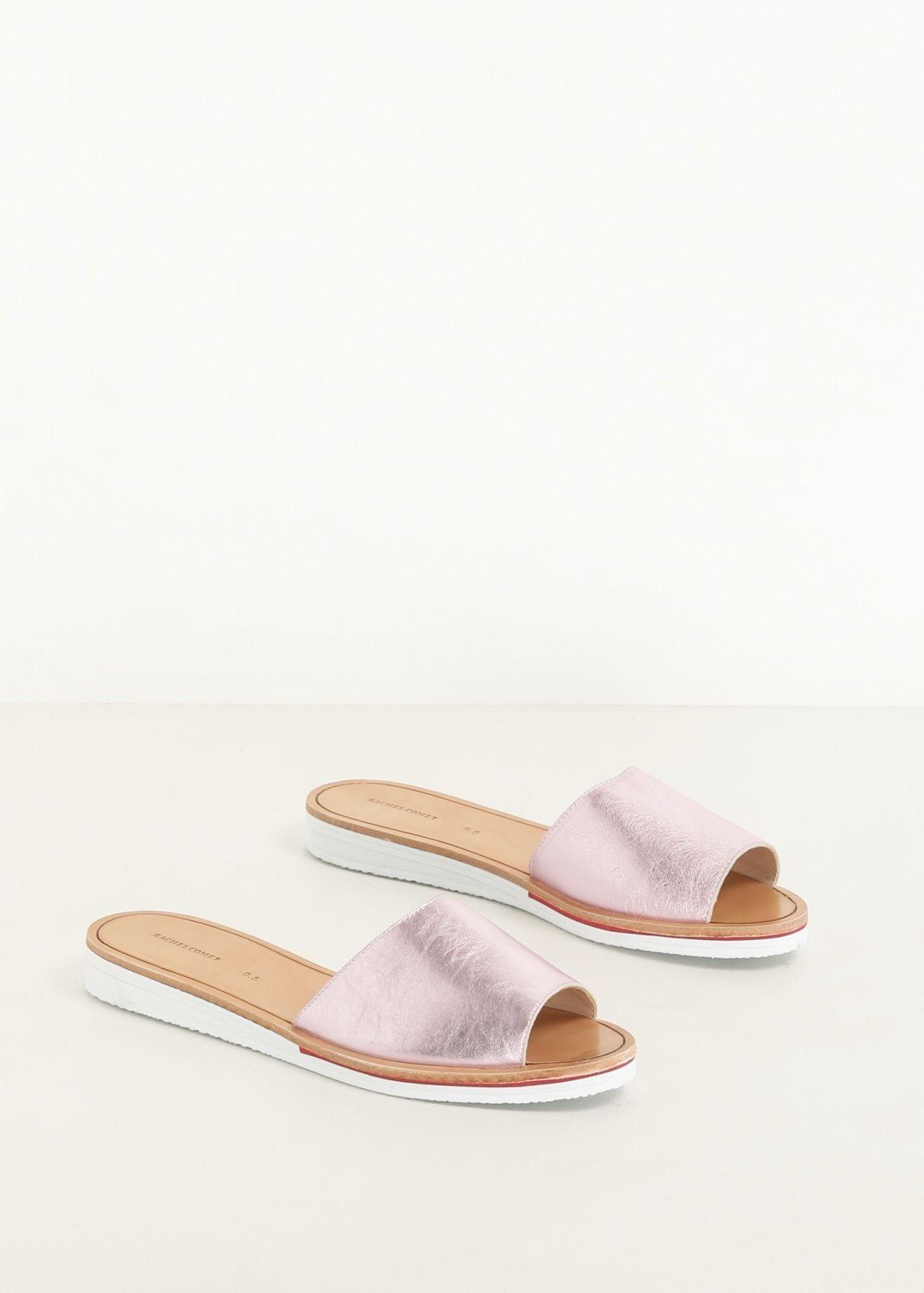 Rachel Comey Metallic Slide Sandals cheap sale store free shipping nicekicks cheap sale genuine KbustFgC6