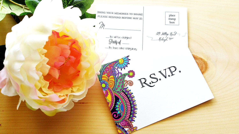 Orchid Wedding Invitation Calligraphy D N Tipsyturtlegallery