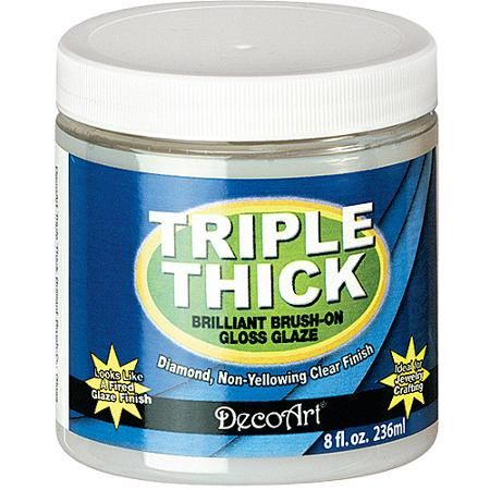Deco Art Triple Thick Brilliant Brush, On Gloss Glaze, 8 oz Jar