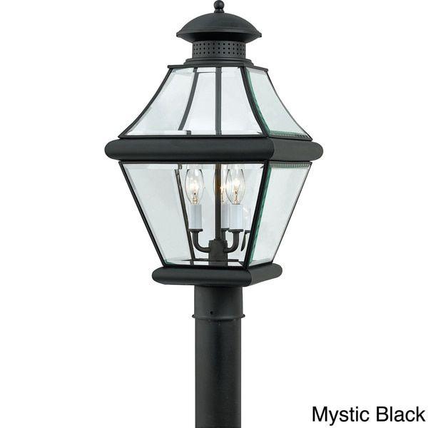 Overstock.com Online Shopping - Bedding Furniture Electronics Jewelry Clothing u0026 more. Outdoor Post LightsOutdoor LightingHome ...  sc 1 st  Pinterest & Quoizel Rutledge 3-light Outdoor Post Lantern (Black) (Brass) | Bed ...