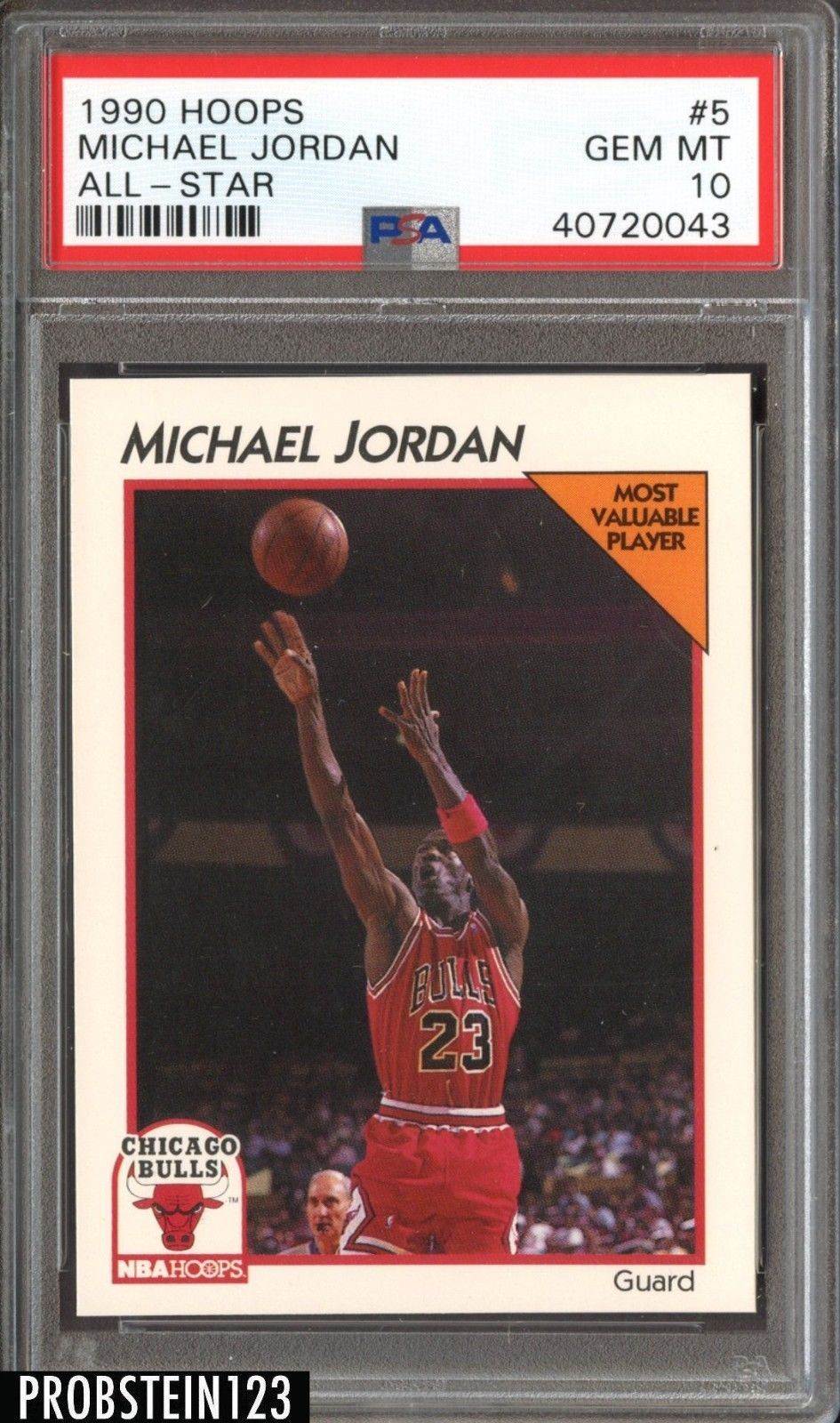 bb3b5a17b69 1990 Hoops  5 All-Star Michael Jordan PSA 10 GEM MT  MichaelJordan ...