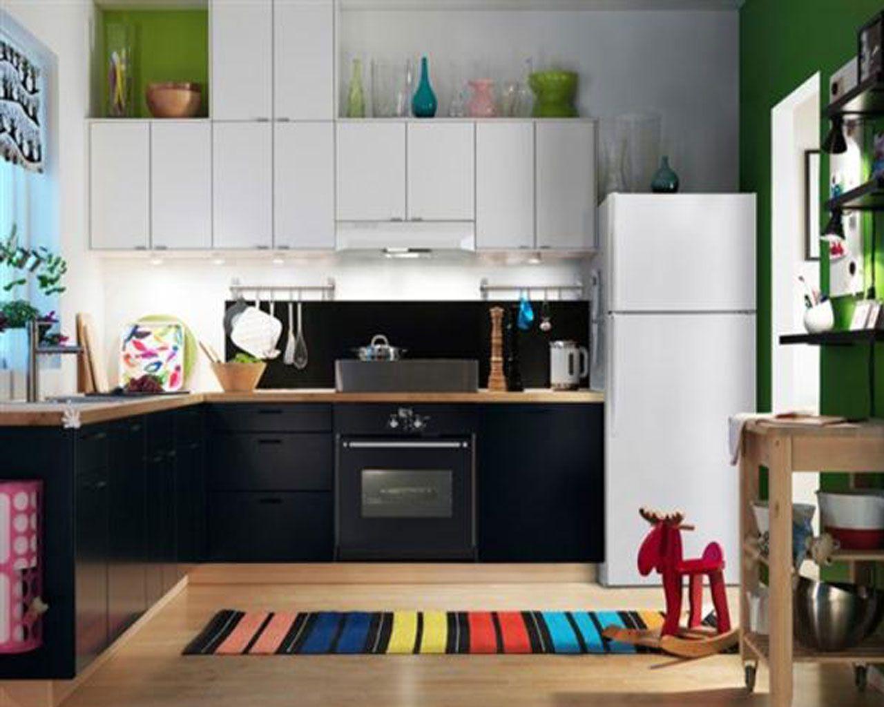 Stylish IKEA Kitchen Design Ideas 2012 : White and Green ...