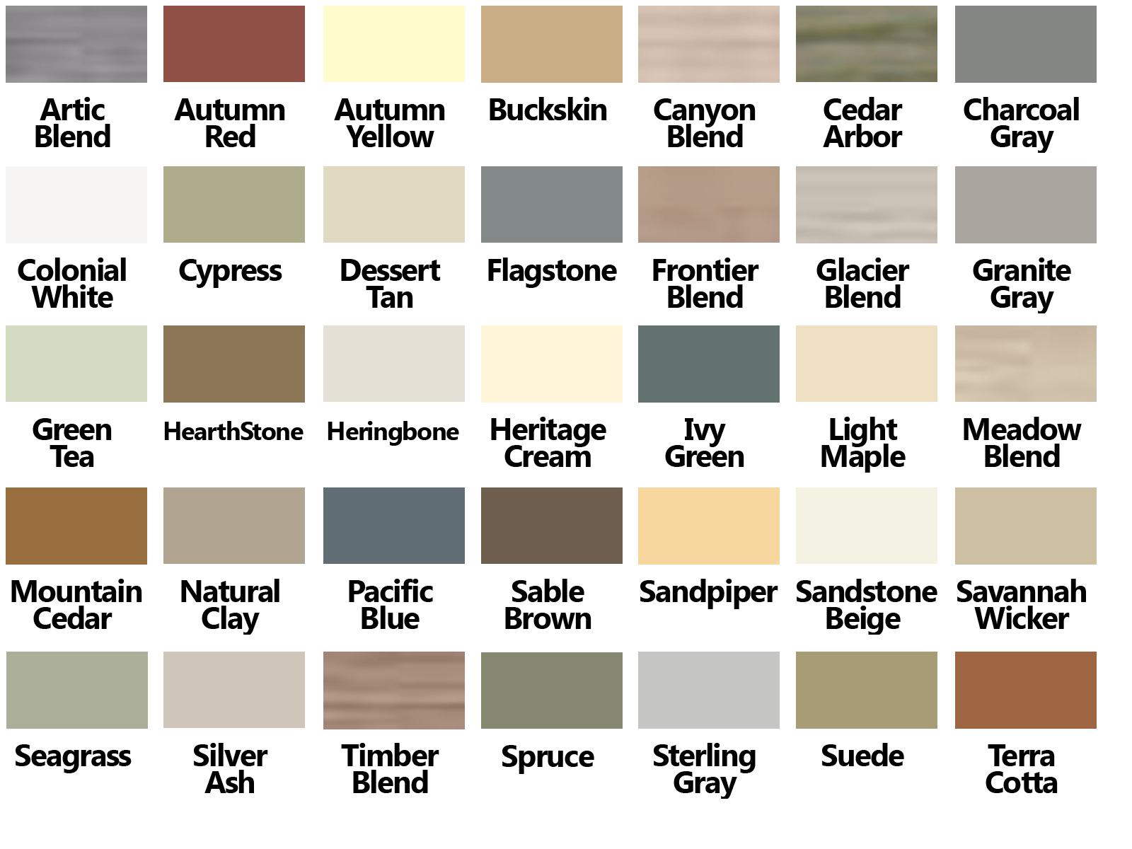 Certainteed Vinyl Siding Color Chart For The Beach House