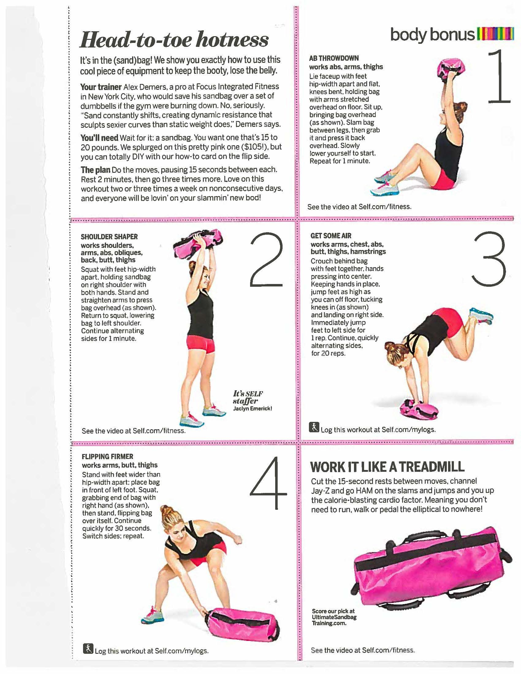 Head To To Hotness With A Sandbag Sandbag Training Sandbag Workout Fun Workouts