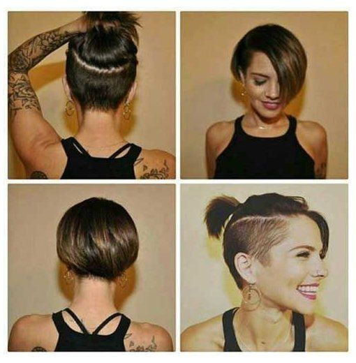 short bob hairstyles undercut